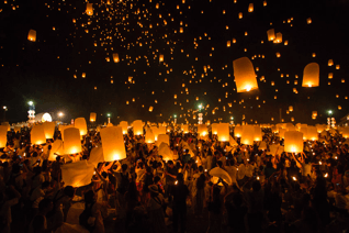 Floating Lanterns in Chiang Mai
