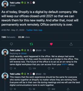 shopify shift to remote work